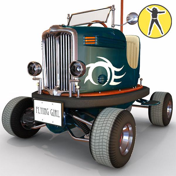 3d street legal bumper car model