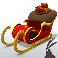 3ds max santa claus sleigh