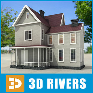 max small town house building