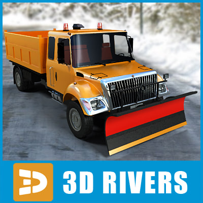 winter vehicle snow removal 3d model