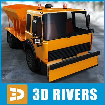 3d winter vehicle snow removal