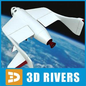 3d spaceshipone space ship