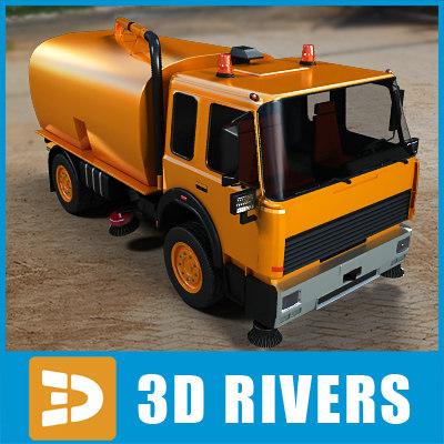 3d model of street sweeper