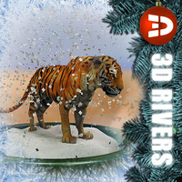 3d chinese new year snow globe model