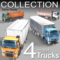 New 4 Model-Truck Collection