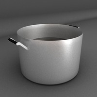 caldron water 3d max