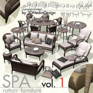 3ds max library rattan furniture spa