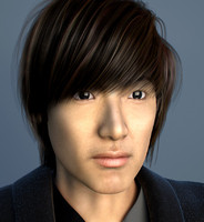 3ds max korean hair
