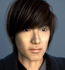 3ds max korean hair