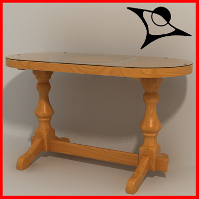 old table 3d 3ds