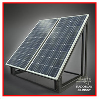 SOLAR panel small 02 (HIGH detail)