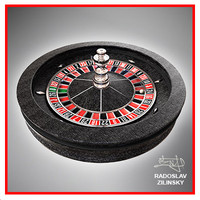 roulette wheel realistic 3d 3ds