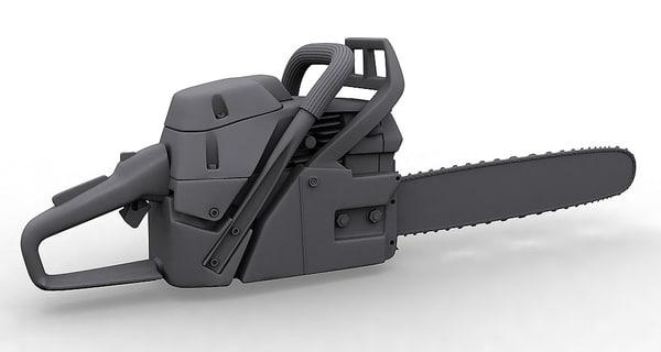 3d subdivision chainsaw model