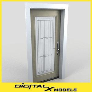 residential entry door 3d model