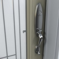 residential entry door 3d model