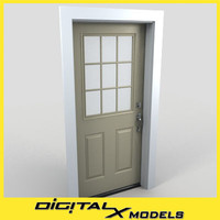 residential entry door 04 3ds