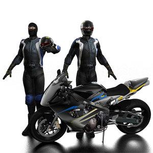 3d biker bike