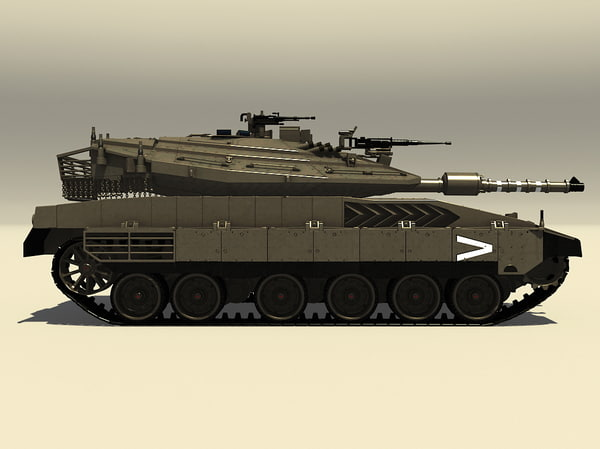 3d merkava mk iv battle tank model