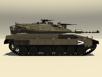 3d merkava mk iv battle tank model