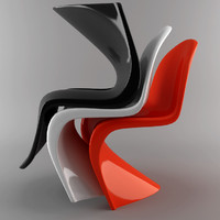 3d model panton chair