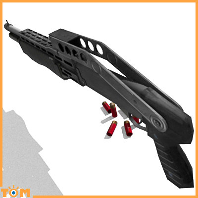 3d model franchi spas-12 shotgun