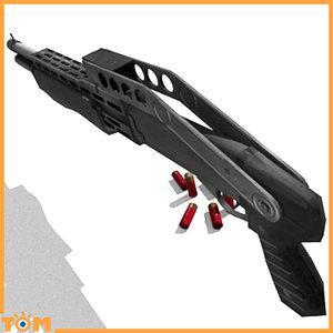 3d model franchi spas-12 shotgun