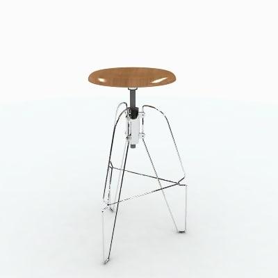 herman miller covey stool 3d max