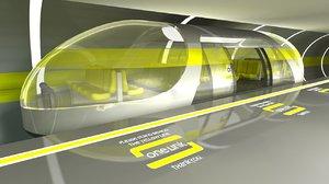 futuristic monorail 3d c4d