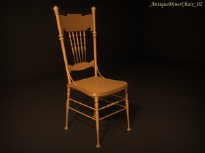 antique diner chair 02 3ds
