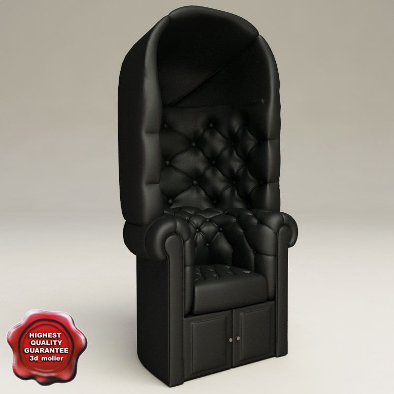 3d model armchair classic v8