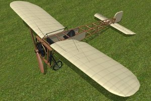 bleriot xi 3d model