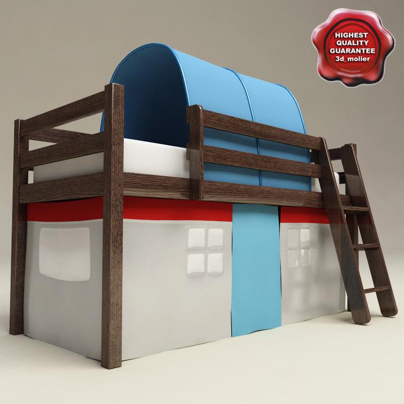 3d bunk bed
