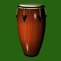3ds max conga drum