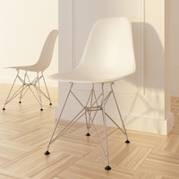vitra chair eames plastic 3d model