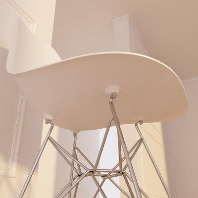 Eames Plastic Side Chair Dsr chair eames plastic 3d model