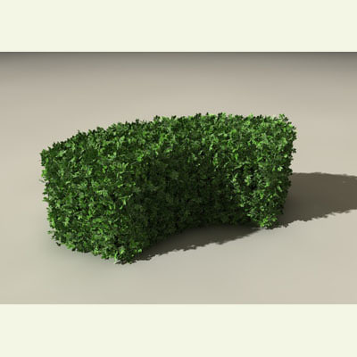 3d model green fence