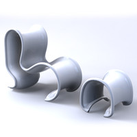 contemporary fiocco chair 3d max