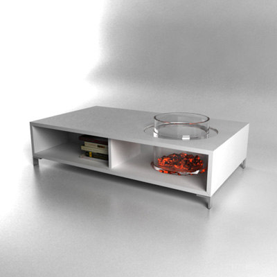 3d contemporary coffee table fireplace