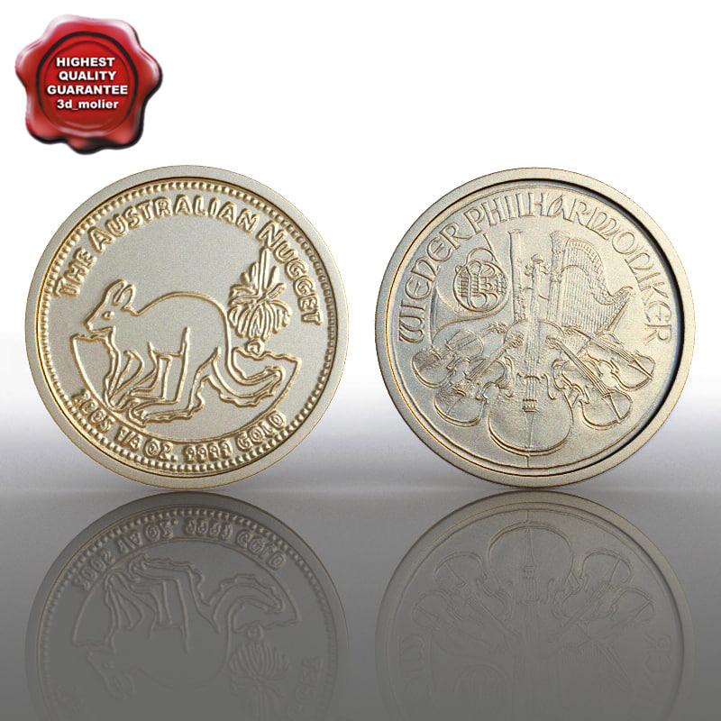 gold coin 3d 3ds