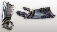 Fantasy knight hand armor