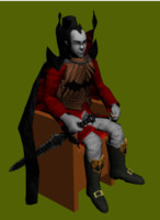 3d model vampire king