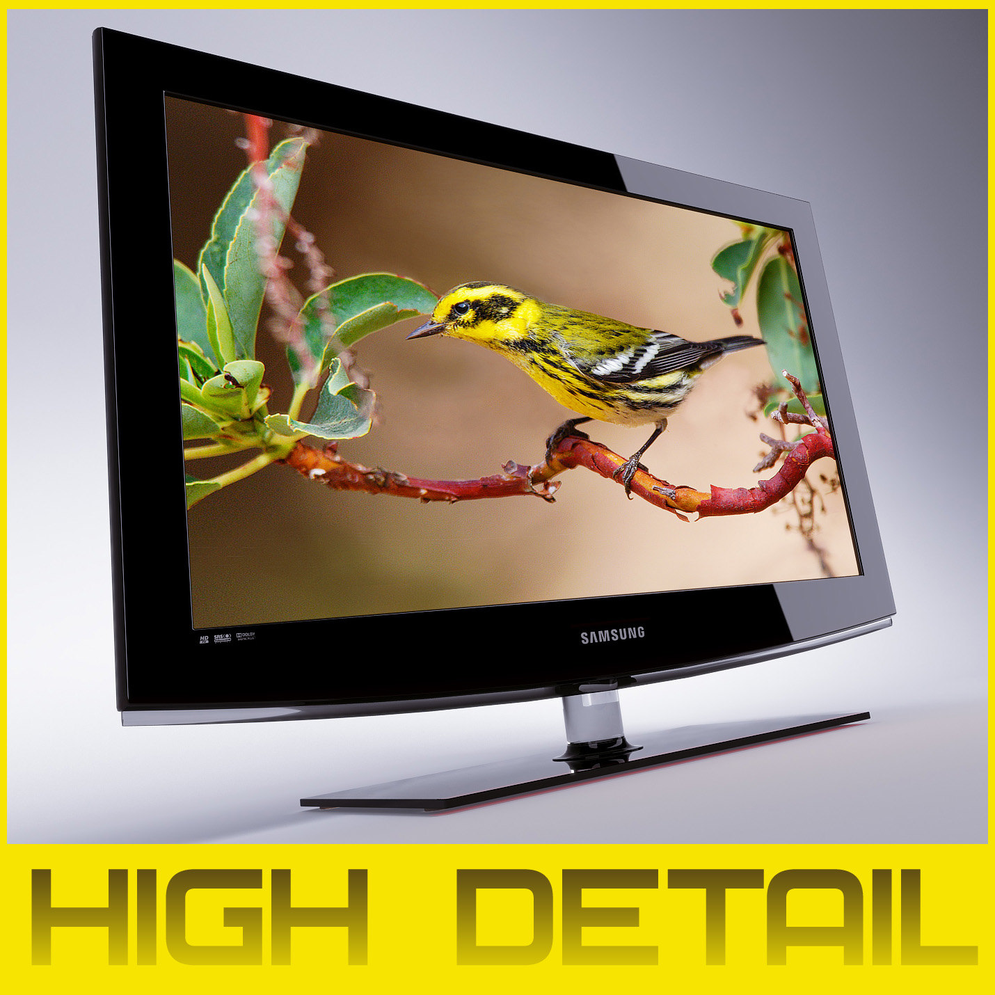 tv lcd samsung le32b460b2w 3d model