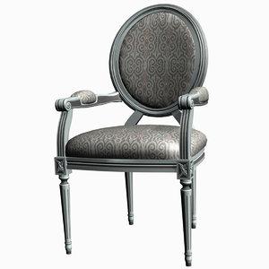 louis xv armchair 3d model