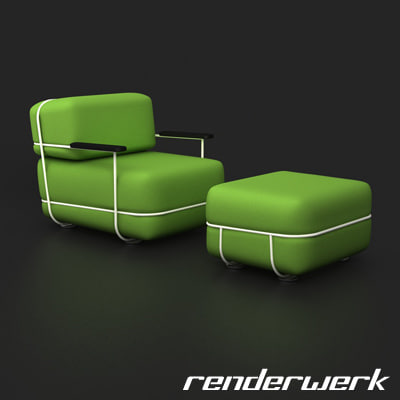 bla station pebble sofa 3d model