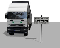 cargo truck - road c4d