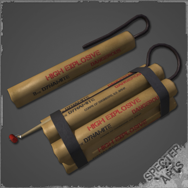 8 dynamite charge 3d model