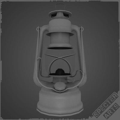 3ds max kerosene storm lantern