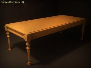 3d model shelton diner table 01