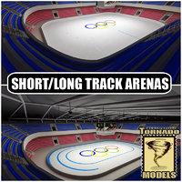 short long track 3d model