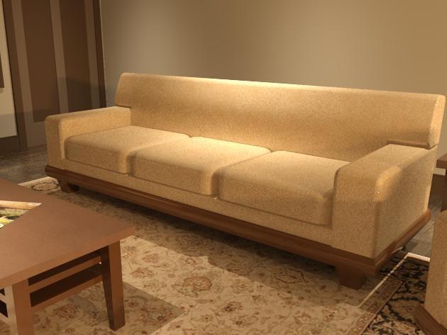 3d model sofa havana